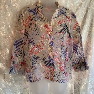 ⭐️Hearts of Palm Sheer Blouse